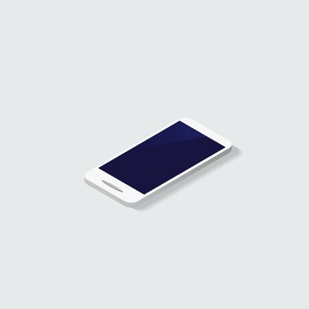 iphon: Smartphone with blank screen standing on corner