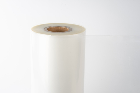 The plastic roll for wrap and seal food in the factory.