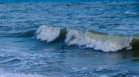 Waves in ocean sea Waves at Phayun Beach, Banchang, Rayong ,Thailand Stock Photo