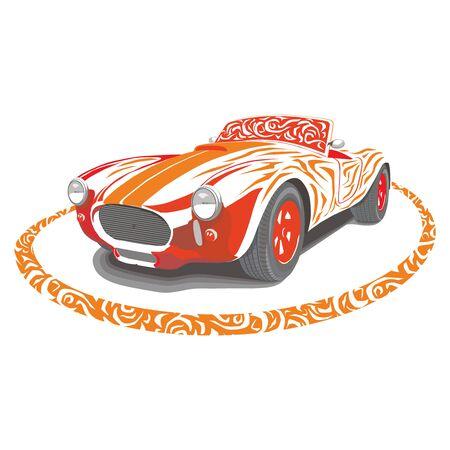 retro: Retro car Illustration