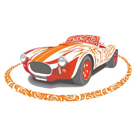Retro car Illustration