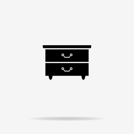 nice house: Closet cabinet icon. Vector concept illustration for design. Illustration