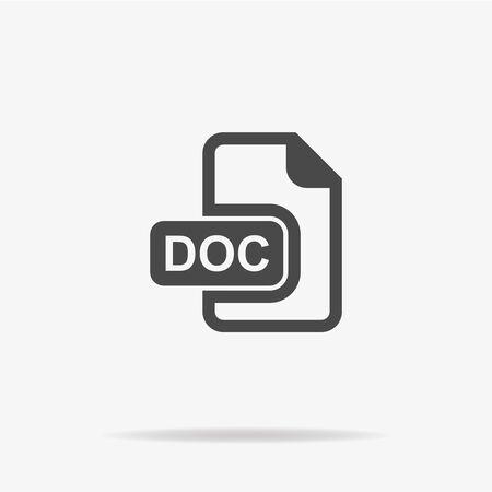 doc: Doc icon. Vector concept illustration for design.