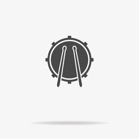 Drum icon. Vector concept illustration for design.