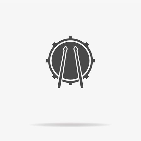 drumset: Drum icon. Vector concept illustration for design.