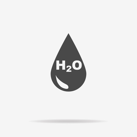 wetness: H2O icon. Vector concept illustration for design. Illustration