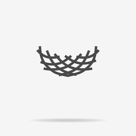 bird       s house: Nest icon. Vector concept illustration for design.