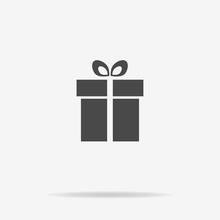 Icona del regalo. Illustrazione concettuale vettoriale per il design. Vettoriali