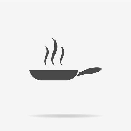 Frittura icona pan. Illustrazione vettoriale concetto per il design.