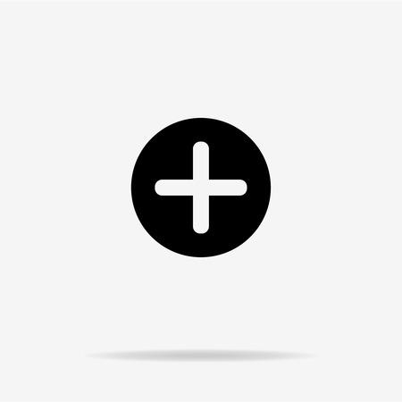 Plus icon. Vector concept illustration for design. Illustration