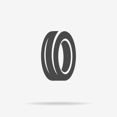 motoring: Road tire icon. Vector concept illustration for design.