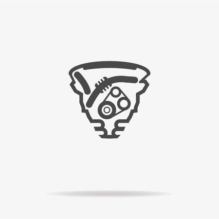 Icône du moteur. Illustration de concept de vecteur pour la conception.