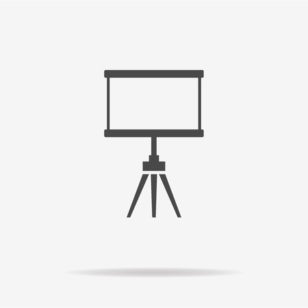 projection: Blank projection screen icon. Vector concept illustration for design.