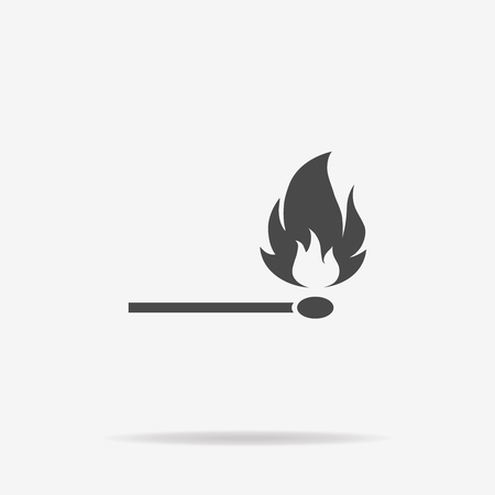 extinguishing: Match icon. Vector concept illustration for design. Illustration