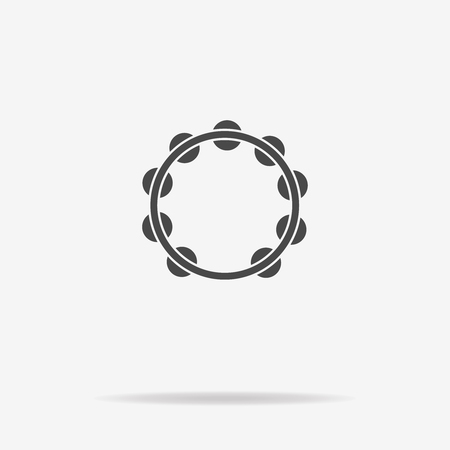 pandero: Tambourine icon. Vector concept illustration for design.