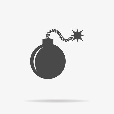 threat of violence: Bomb icon. Vector concept illustration for design.