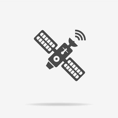 transponder: Satellite icon. Vector concept illustration for design.