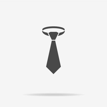 necktie: Necktie icon. Vector concept illustration for design. Illustration