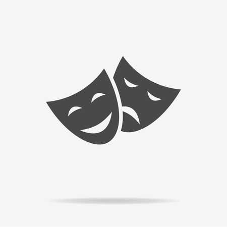 moods: Theater icon. Vector concept illustration for design.