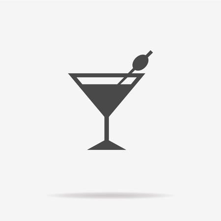 Martini glass icon. Vector concept illustration for design.