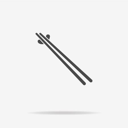 bamboo stick: Chopsticks icon. Vector concept illustration for design.