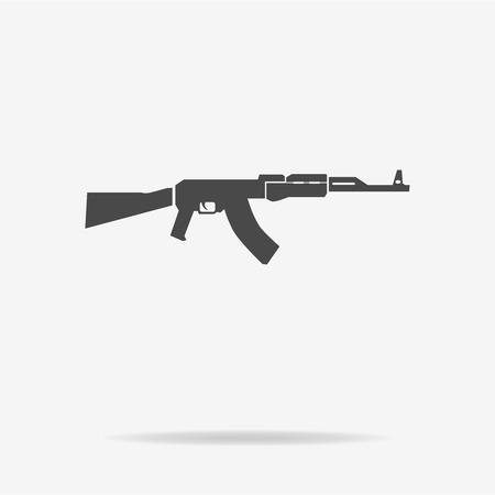 ak 47: AK 47 icon. Vector concept illustration for design. Illustration