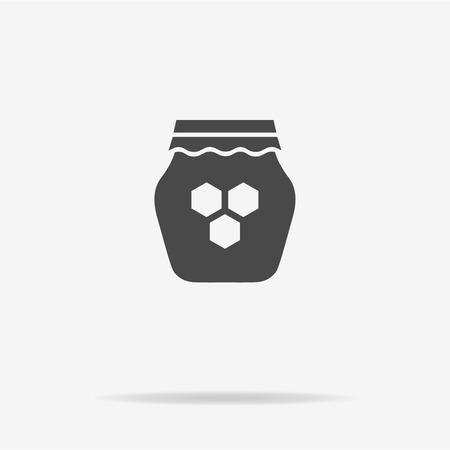 sweetener: Honey icon. Vector concept illustration for design.