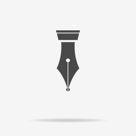 Fountain pen icon. Vector concept illustration for design.