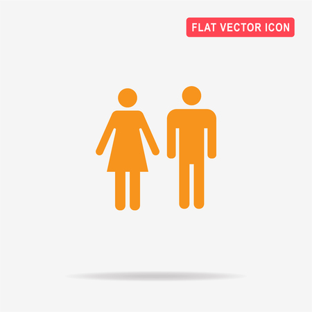 Man and woman icon. Vector concept illustration for design. Illustration