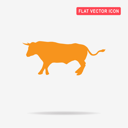raging: Bull icon. Vector concept illustration for design.