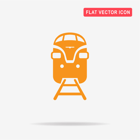 locomotion: Train icon. Vector concept illustration for design. Illustration