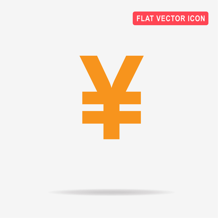 Chinese yuan icon. Vector concept illustration for design.