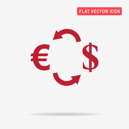 Currency exchange icon. Vector concept illustration for design. Illustration