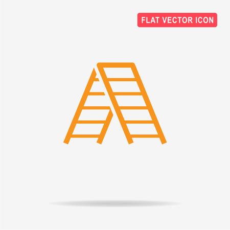 Ladder icon. Vector concept illustration for design.