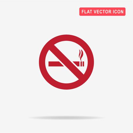 smoldering: No smoking sign icon. Vector concept illustration for design.