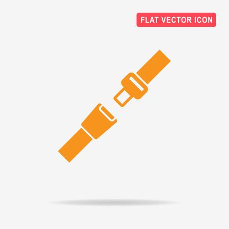Veiligheidsgordel pictogram. Vector concept illustratie voor het ontwerp.