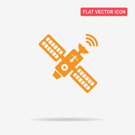 Satellite icon. Vector concept illustration for design.