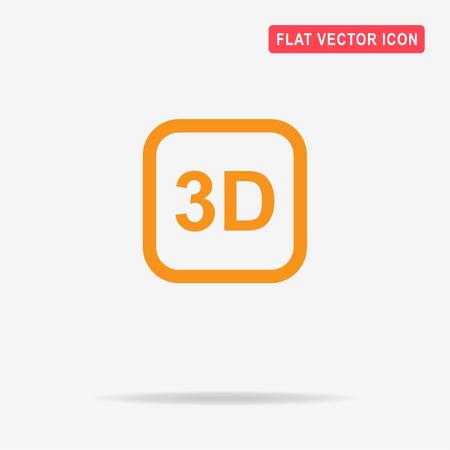 stereoscope: 3d icon. Vector concept illustration for design. Illustration