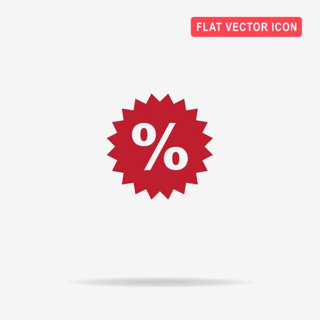 new account: Percent icon. Vector concept illustration for design.