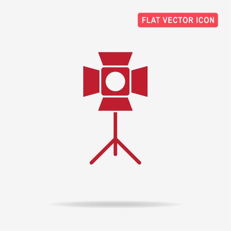 strobe light: Spotlight icon. Vector concept illustration for design.
