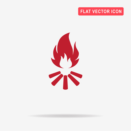 Bonfire icon. Vector concept illustration for design. Illustration
