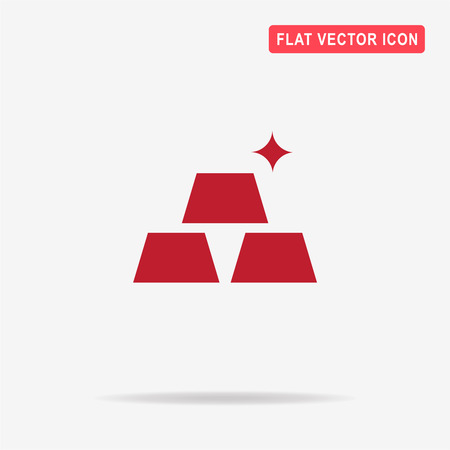 Gold icon. Vector concept illustration for design.