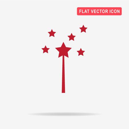 Magic wand icon.  Vector concept illustration for design.