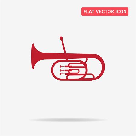 tuba: Tuba icon. Vector concept illustration for design.