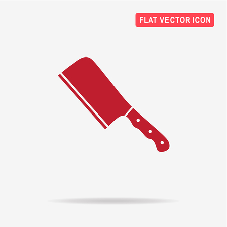 meat chopper: Meat cleaver knife icon. Vector concept illustration for design.