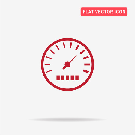Speedometer icon. Vector concept illustration for design. Illustration