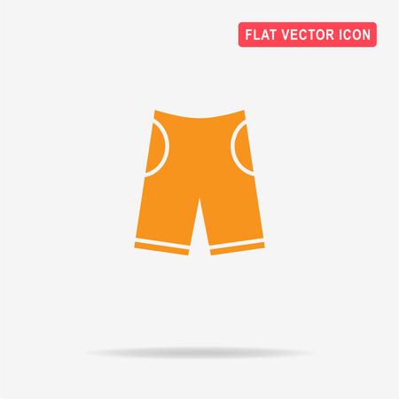 Shorts icon. Vector concept illustration for design.