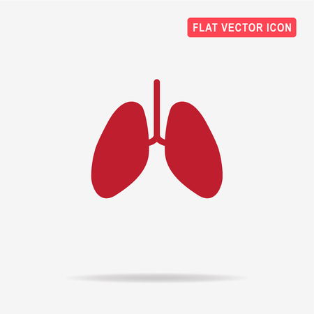 Lungs icon. Vector concept illustration for design.