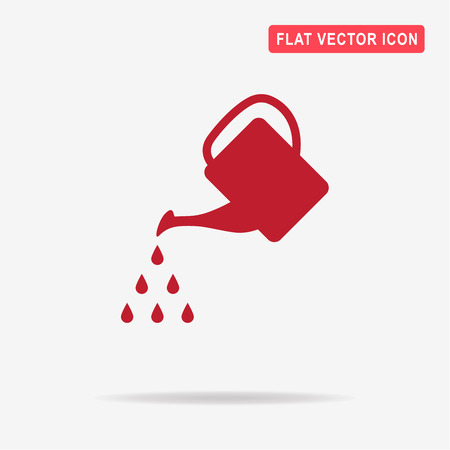 Watering can icon. Vector concept illustration for design. Illustration