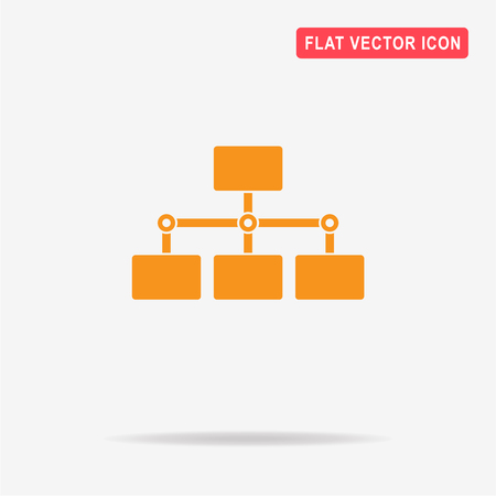 Flow Chart Diagram Icon Vector Concept Illustration For Design